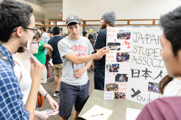 Students with the Japanese Student Organization