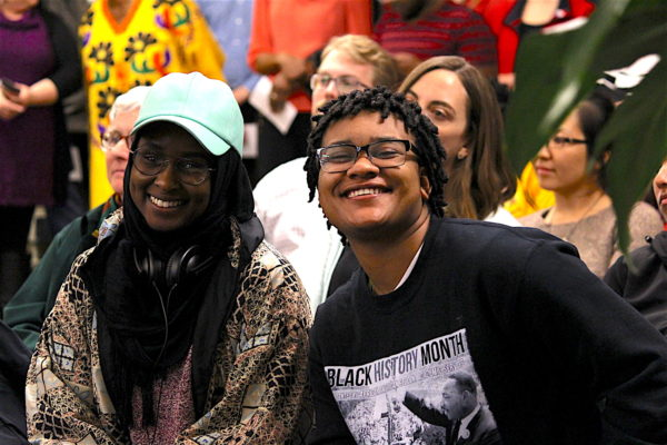 Students from the Black Cultural Center