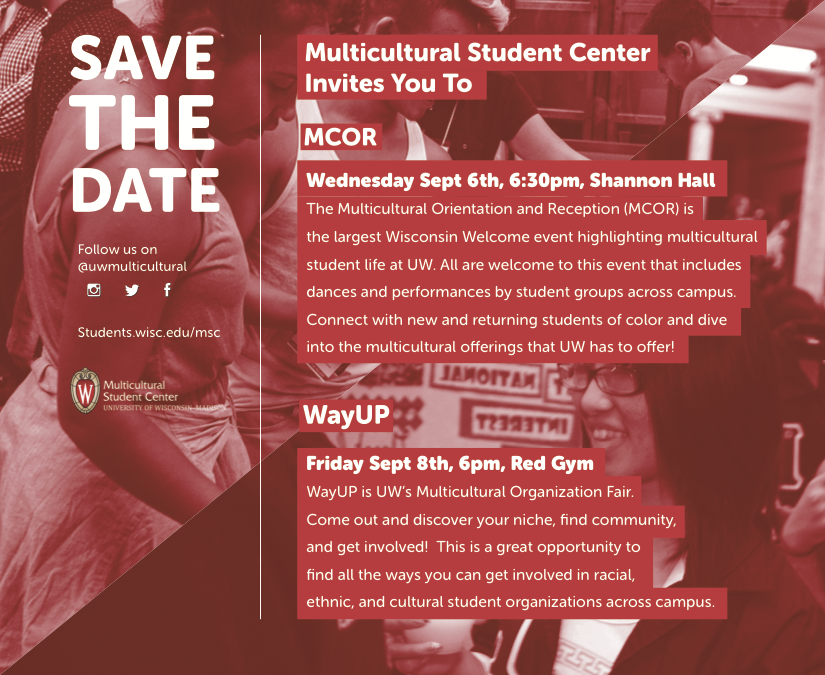 Wisconsin Welcome – Multicultural Student Center – UW–Madison