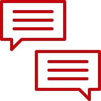 Two dialogue boxes in a chat conversation