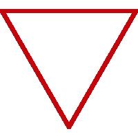Inverted triangle representing LGBTQIA+