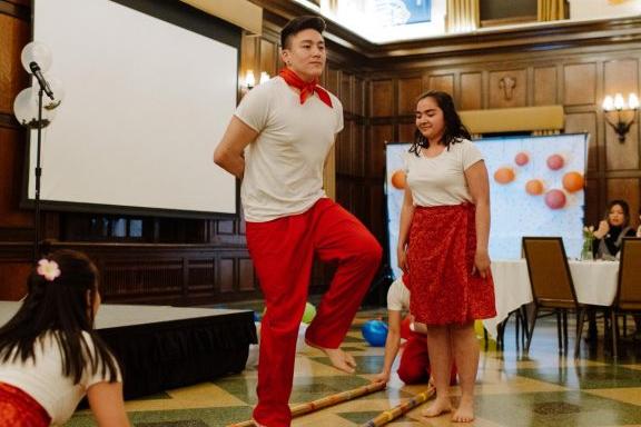 Students performing at the APIDA Gala