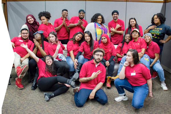 A group of students from the Multicultural Student Center